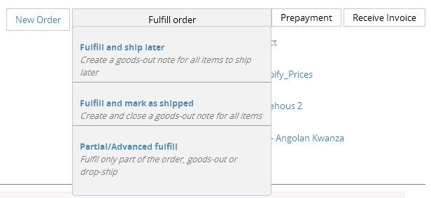 magento easyerp order action